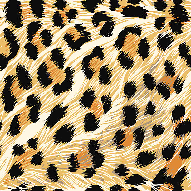 leopard fur (seamless tile) - leopard texture stock illustrations, clip art, cartoons, & icons