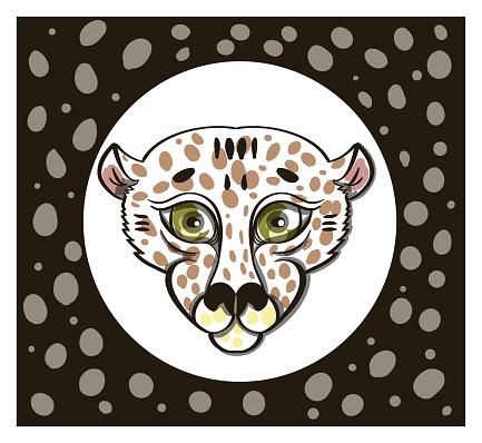 leopard head in frame