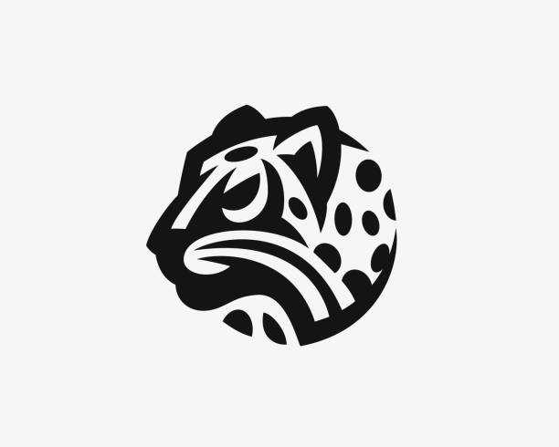 Leopard  head logo.Wild cat emblem design editable for your business. Leopard  head logo.Wild cat emblem design editable for your business.Vector illustration. jaguar stock illustrations