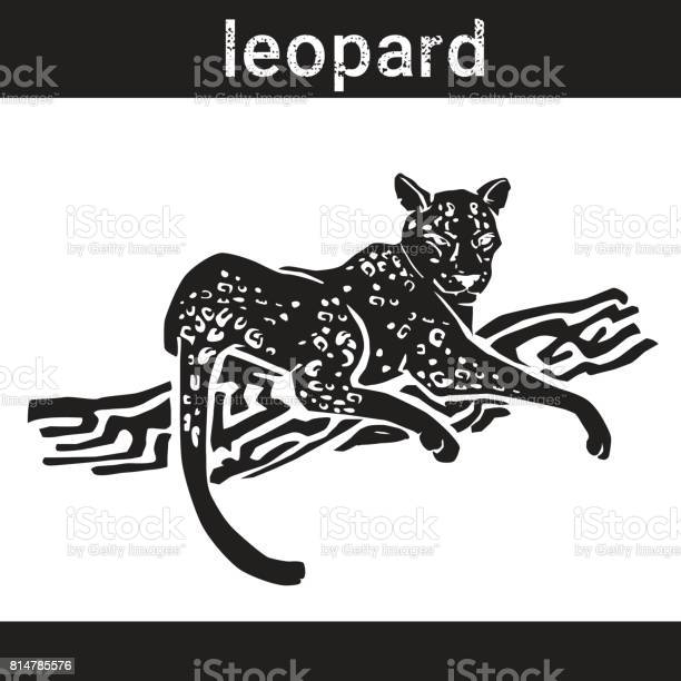 Leopard in grunge style silhouette hand drawn animal vector id814785576?b=1&k=6&m=814785576&s=612x612&h=sxb7ufxky354ce8zar eoxyqoen20l1phdqt wvqf30=