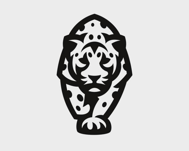 Leopard modern logo. Panther emblem design editable for your business. Vector illustration. Leopard modern logo. Panther emblem design editable for your business. Vector illustration. jaguar stock illustrations