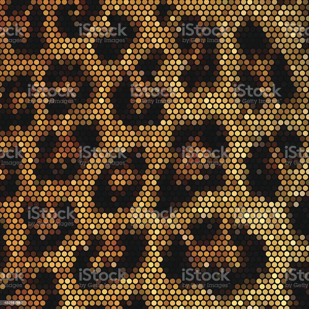Mosaik Vektor Hintergrund mit Leopardenmuster – Vektorgrafik