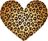 Leopard print heart