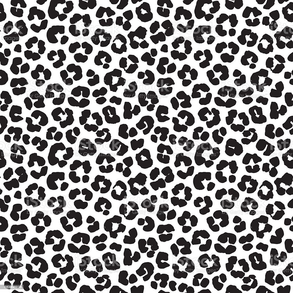 Leopard print seamless background pattern black and white royalty free leopard print seamless background
