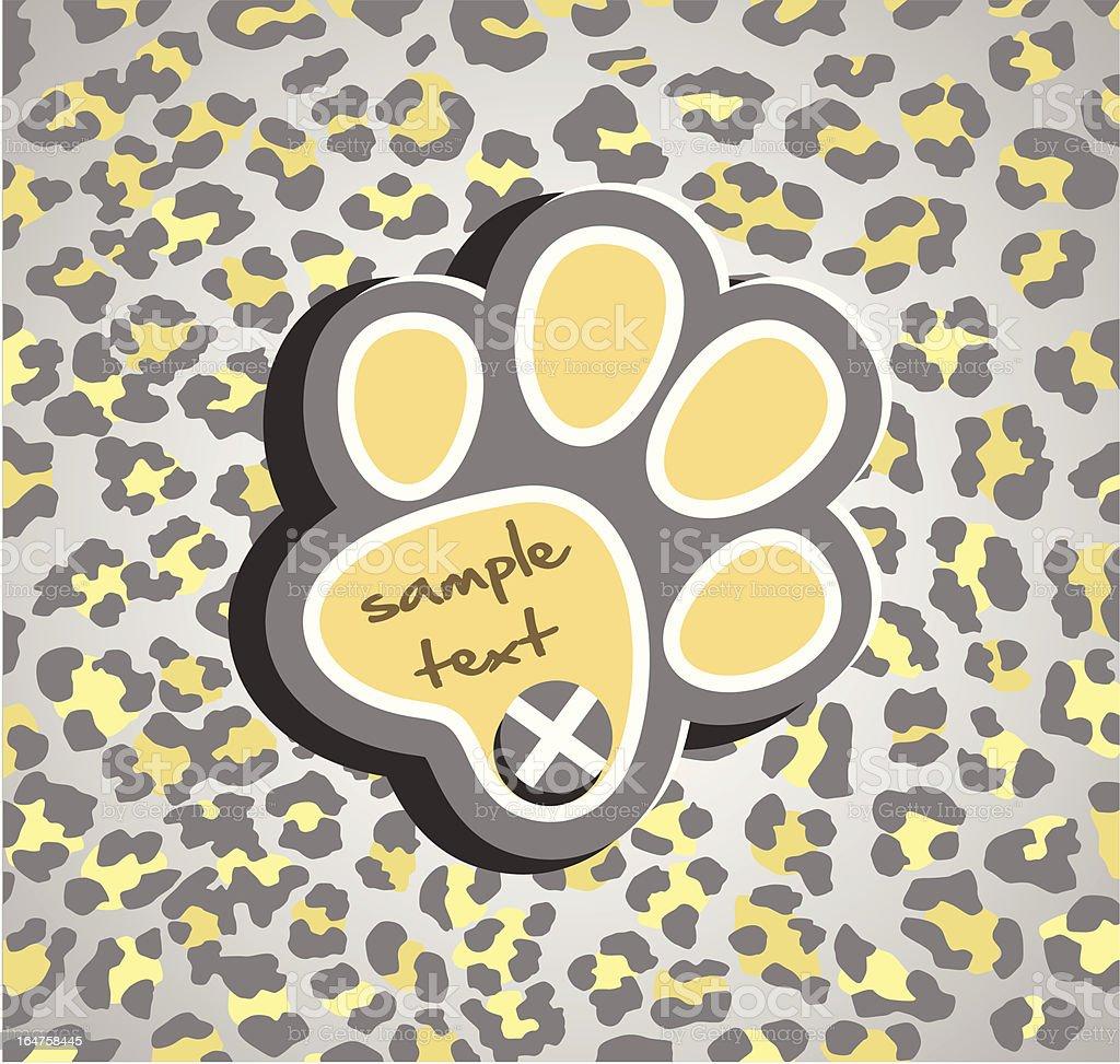 Leopard print royalty-free stock vector art