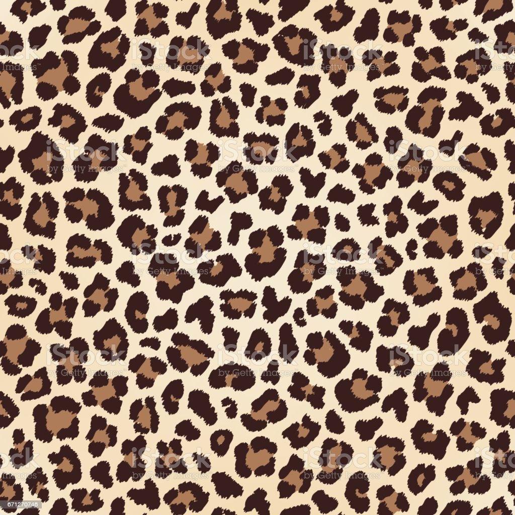 Leopard nahtlose Textur, Fell-Nachahmung – Vektorgrafik