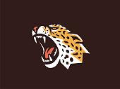 Leopard sign. Vector format.
