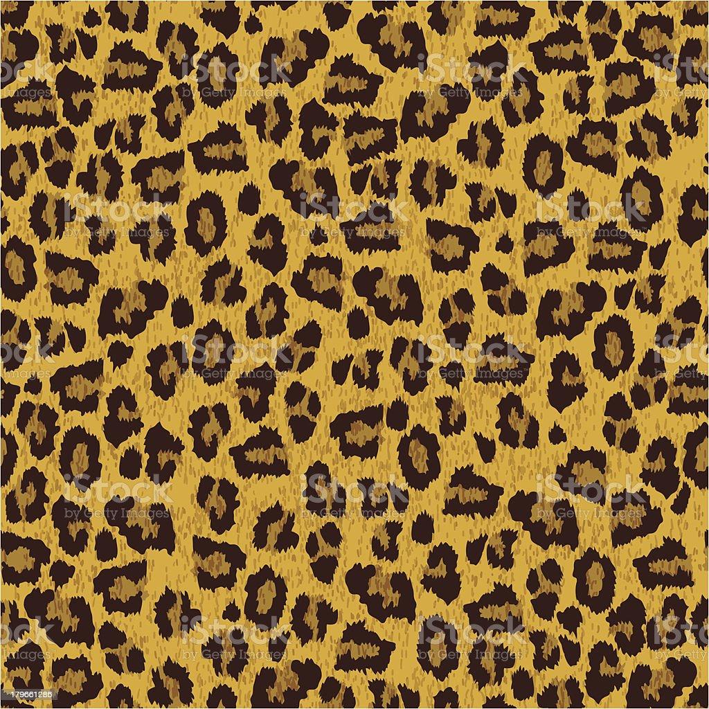 Textura de la piel de leopardo - ilustración de arte vectorial