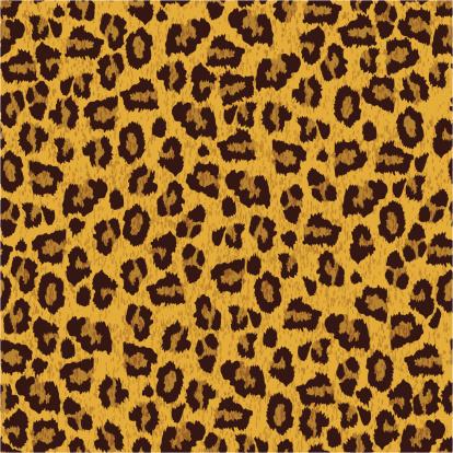 Leopard skin texture. Vector seamless pattern