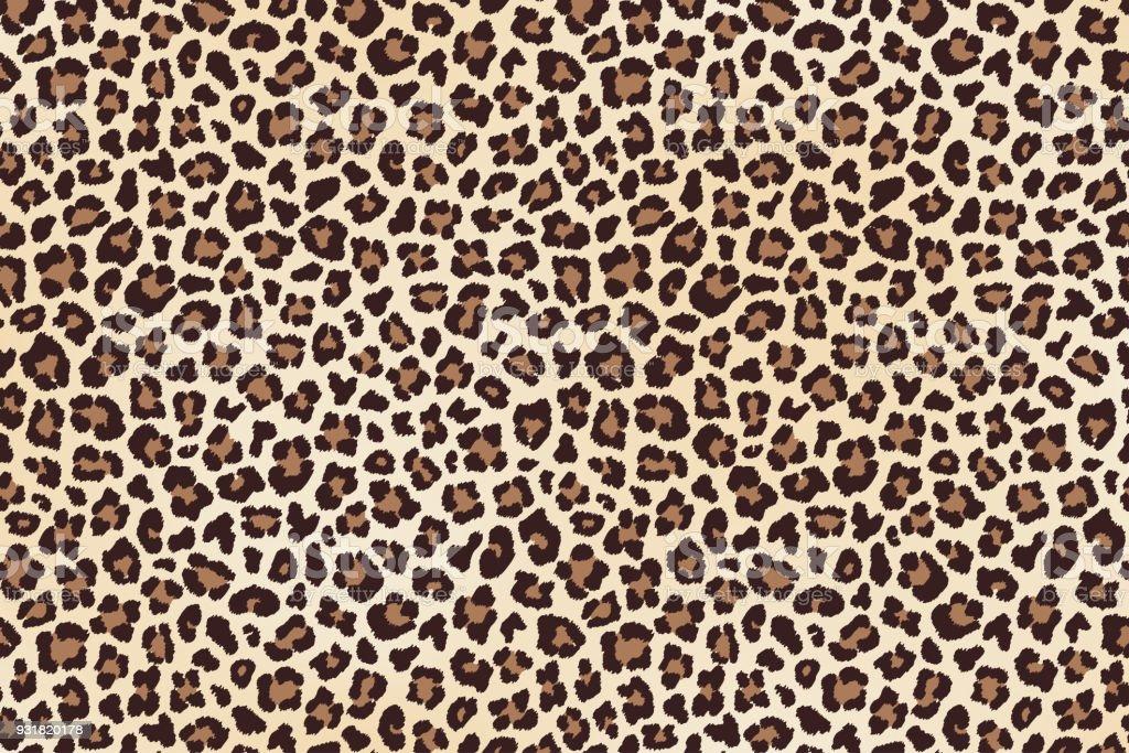 Leopardo de manchas de piel, textura horizontal. Vector de - ilustración de arte vectorial