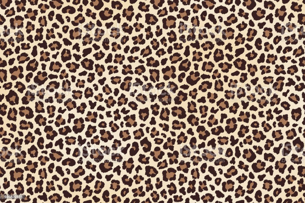 Leopard Spots Fell, horizontale Textur. Vektor – Vektorgrafik
