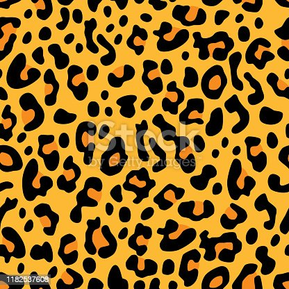 Vector illustration of leopard spots in a repeating pattern.