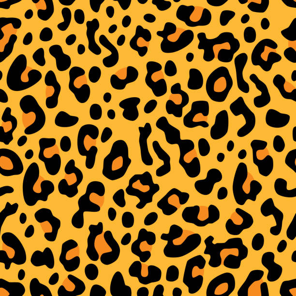 stockillustraties, clipart, cartoons en iconen met luipaard vlekken patroon - leopard print