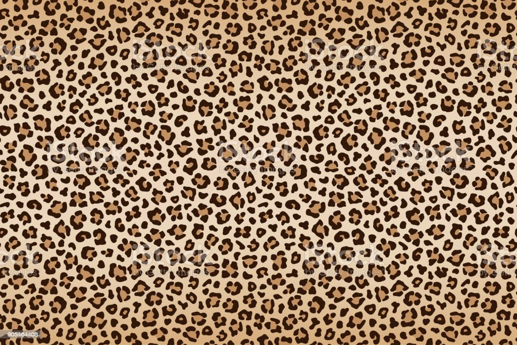 Leopard texture, brown beige with darker border. Vector