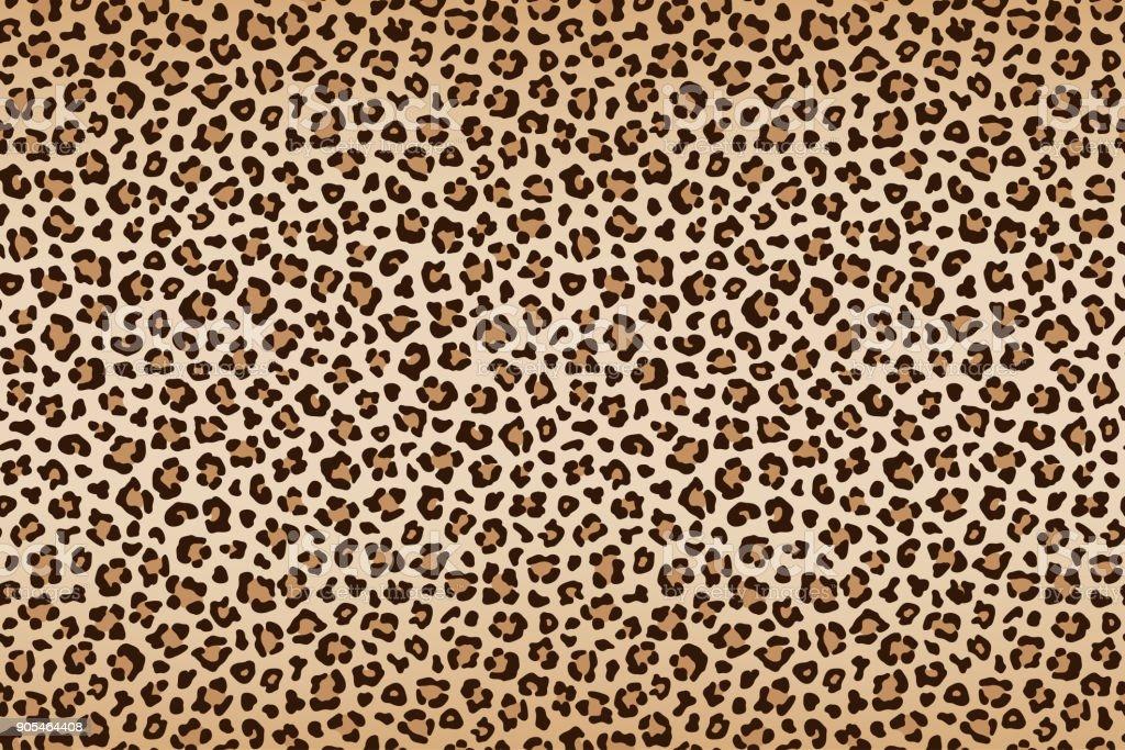 Leopard Textur, braun-Beige mit dunkler Umrandung. Vektor – Vektorgrafik