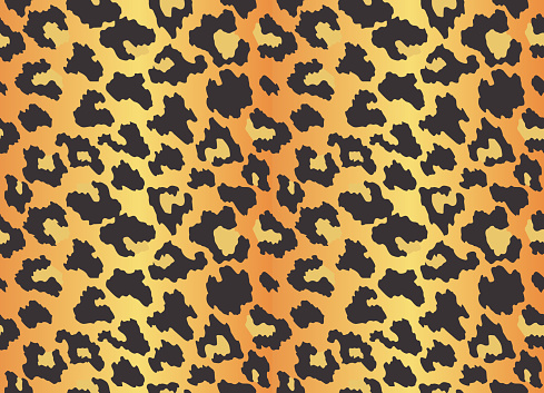 Leopard texture. Seamless print with wild animal skin. Leopard or cheetah nature design pattern. Wild animal skin print. Vector illustration background