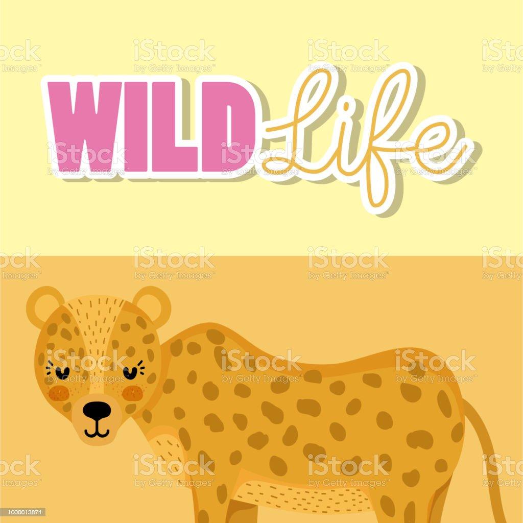 Leopard Tierwelt Tier Cartoon Stock Vektor Art Und Mehr Bilder Von