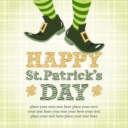Leprechaun Dancing in Happy St. Patrick's Day