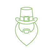 Leprechaun flat icon vector illustration. Leprechaun icon design isolated on white background. St. Patricks Day vector illustration. St. Patrick's Day vector icon trendy flat symbol.