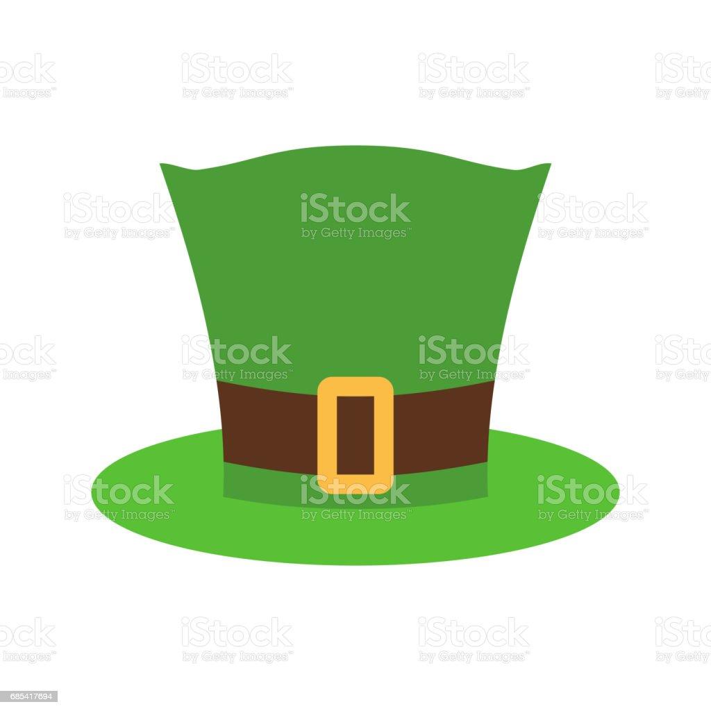 Leprechaun Hat green isolated. National Irish retro cap for dwarf. Illustration for St. Patricks Day. Holiday in Ireland leprechaun hat green isolated national irish retro cap for dwarf illustration for st patricks day holiday in ireland - arte vetorial de stock e mais imagens de cartola - chapéu royalty-free