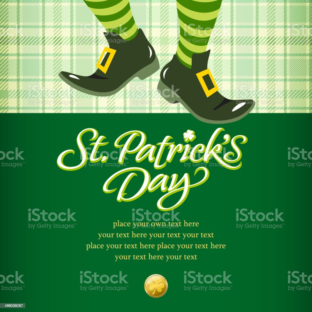 Leprechaun Invitation vector art illustration