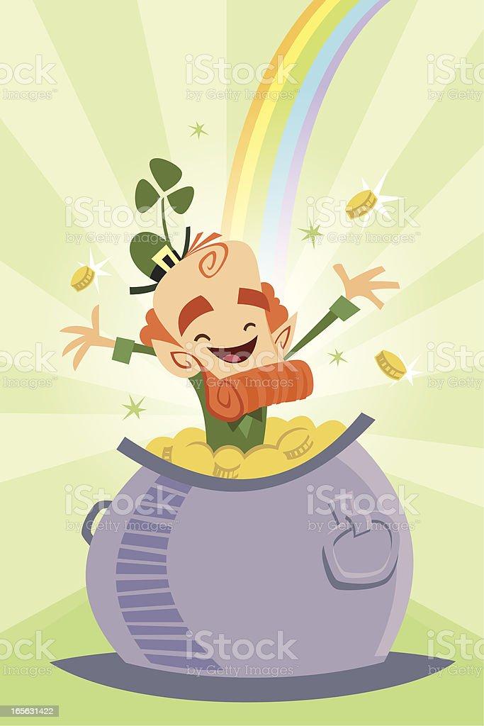 Leprechaun Pot of Gold royalty-free leprechaun pot of gold stock vector art & more images of cartoon