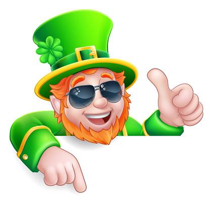 Leprechaun St Patricks Day Cool Cartoon Character