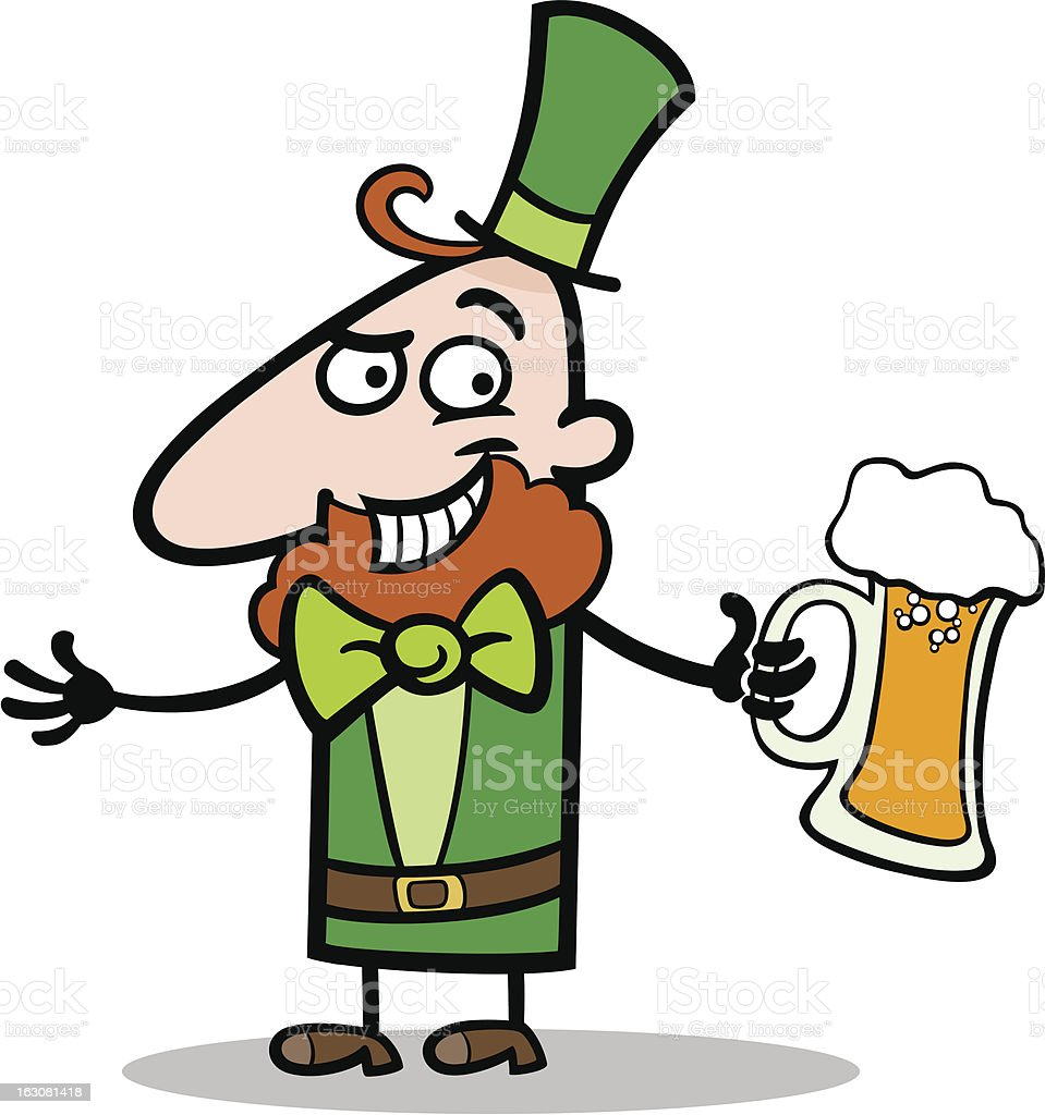 Leprechaun with beer cartoon illustration royalty-free leprechaun with beer cartoon illustration stock vector art & more images of adult