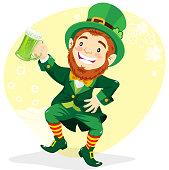 Leprechaun With Green Beer