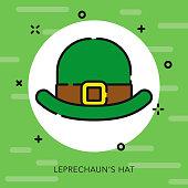 Leprechaun's Hat Open Outline St.Patrick's Day Icon