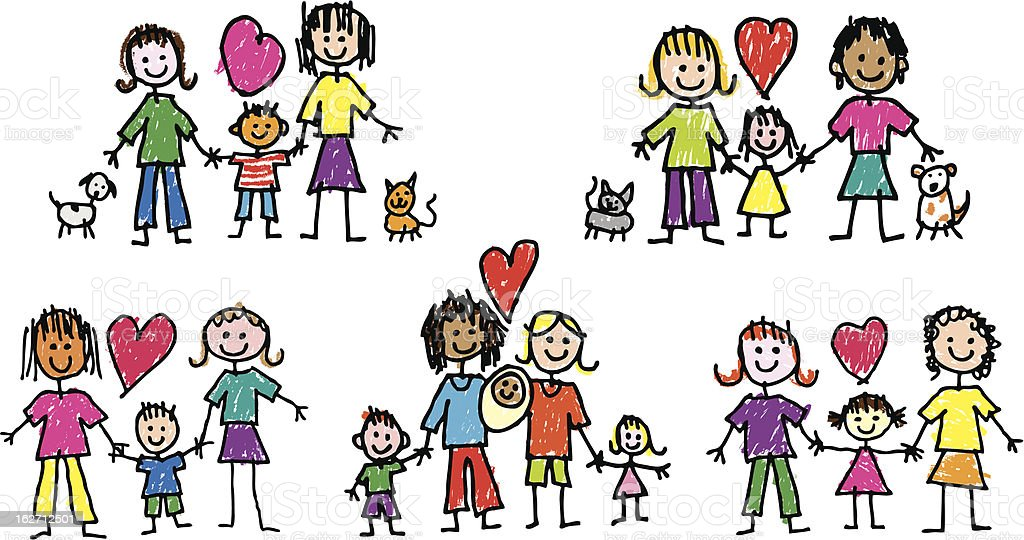 royalty free family with one child clip art vector images rh istockphoto com family clipart images family clipart images