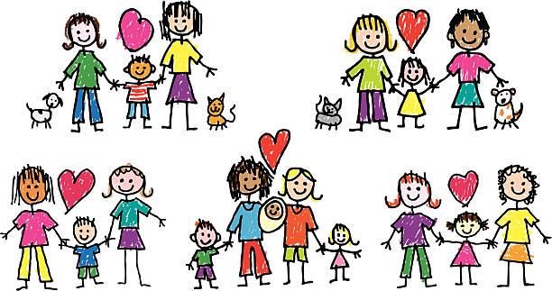 Gay Family Clip Art - Royalty Free