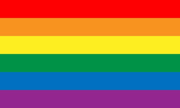 Lesbian, gay, bisexual, and transgender flag. Rainbow pride flag of LGBT organization. Vector illustration vector art illustration
