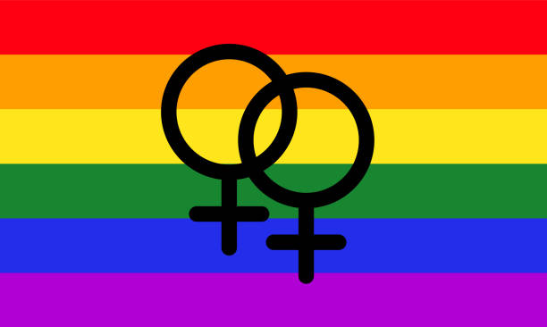 lesbian pride flag - one of the sexual minority of lgbt community - minority stock illustrations, clip art, cartoons, & icons