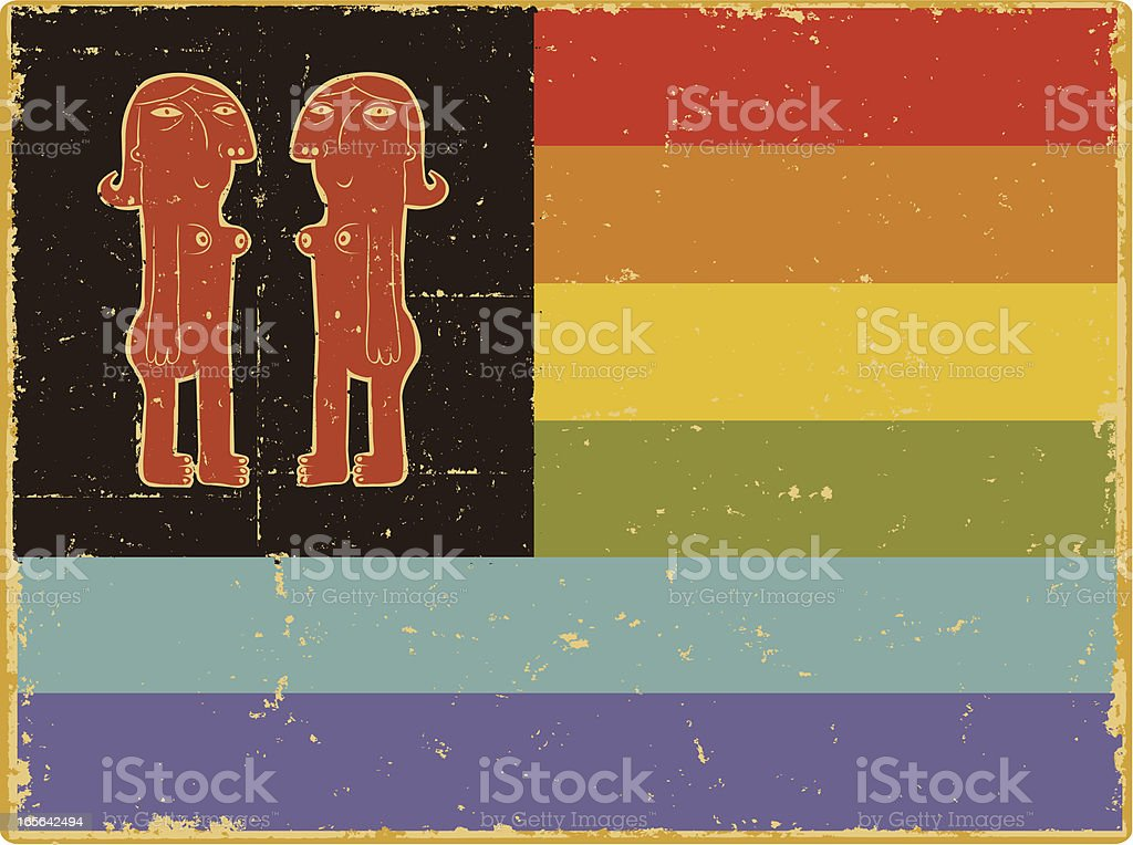 Lesbian Pride Flag royalty-free stock vector art
