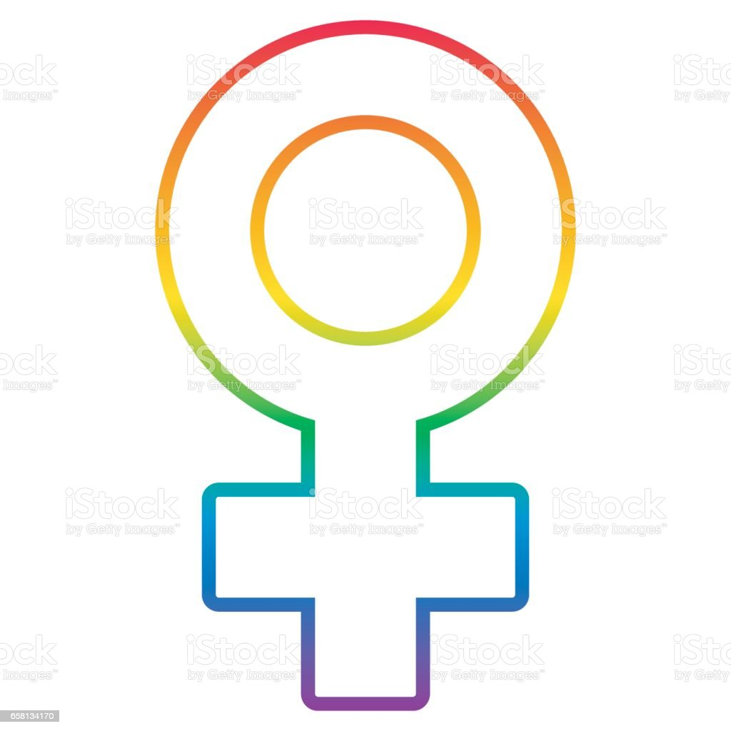Lesbian sign vector. Homosexual woman icon. Venus female symbol. Rainbow illstration royalty-free lesbian sign vector homosexual woman icon venus female symbol rainbow illstration stock vector art & more images of adult