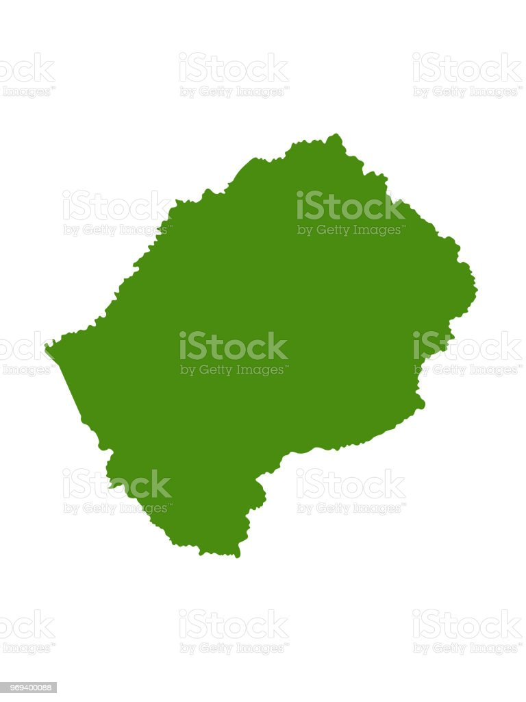 Lesotho Map Stock Vector Art More Images Of Africa 969400088 Istock
