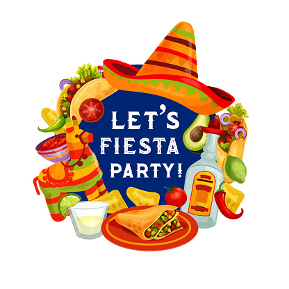Let Fiesta Party, Mexican Cinco de Mayo holiday