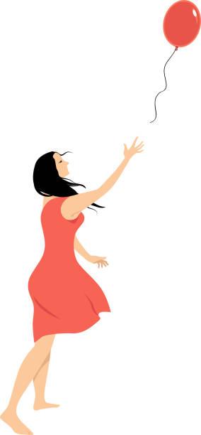 ilustrações de stock, clip art, desenhos animados e ícones de let it go - mulher deixar ir