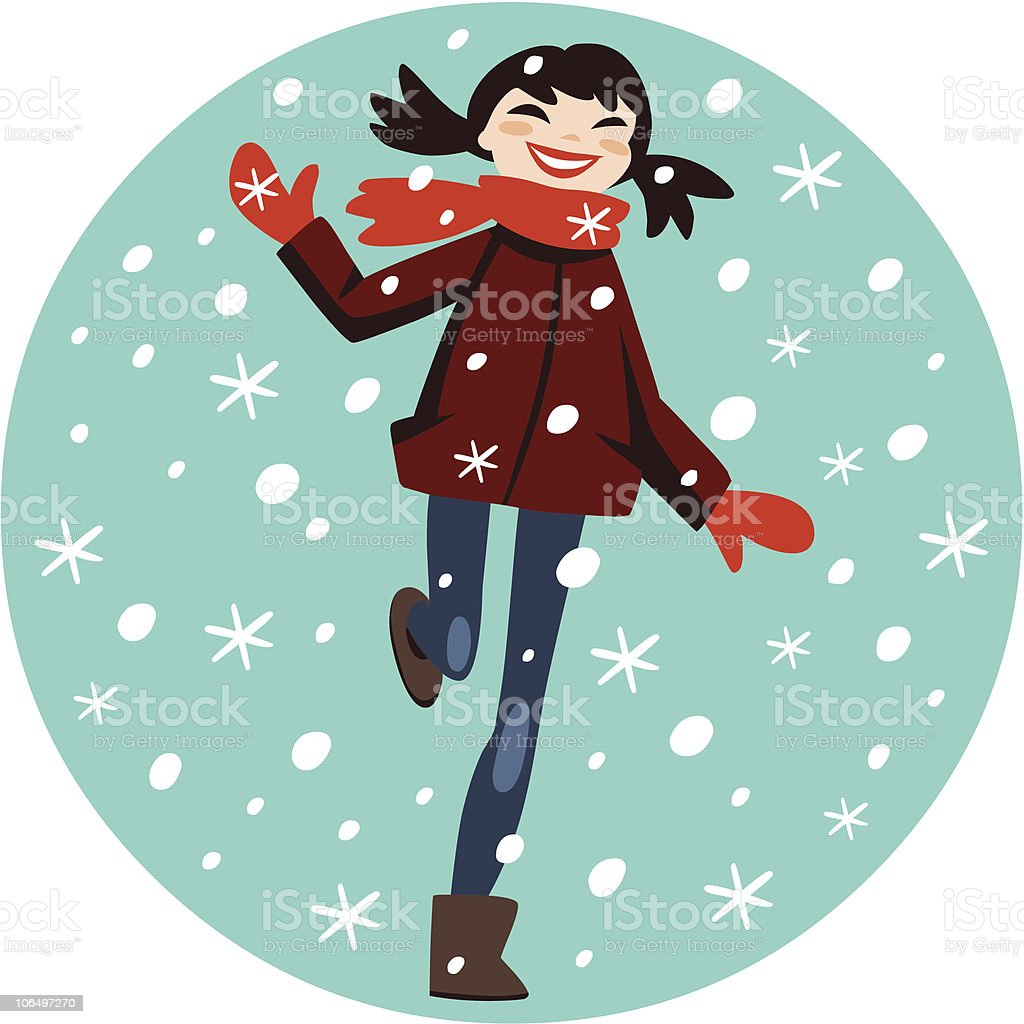 let it snow! royalty-free stock vector art