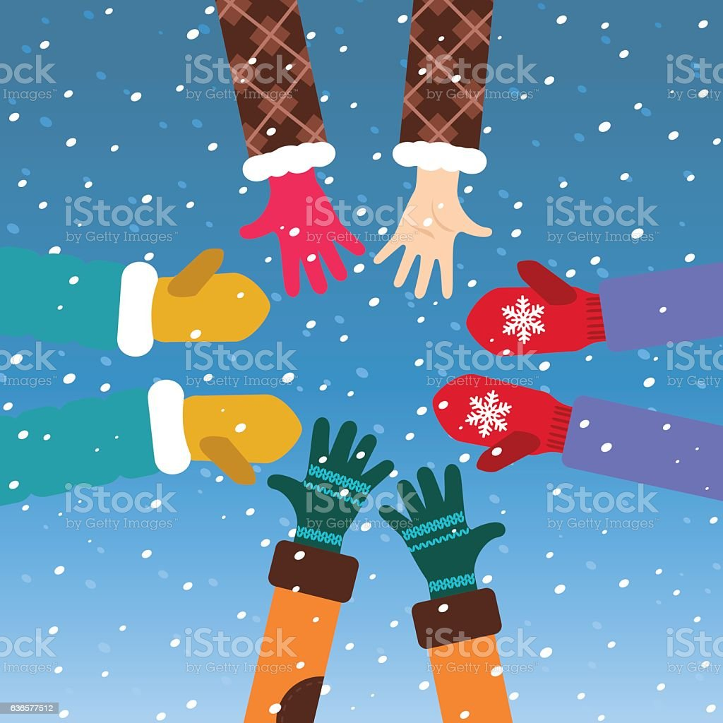 Let it snow! vector art illustration