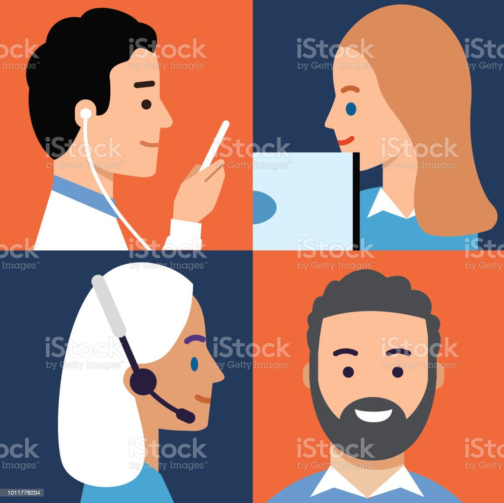 Let's Communicate vector art illustration