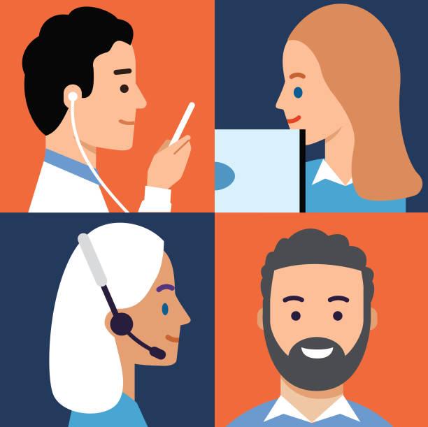 Let's Communicate vector art illustration