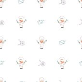 istock Let's Cook Together Vector Cartoon Seamless Pattern 1281786239