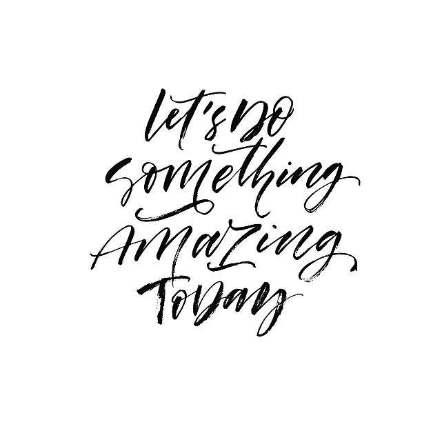 Something Amazing: Royalty Free Make Today Great Phrase Clip Art, Vector