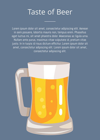 Let's Drink Beer Poster with Text and Mug of Drink