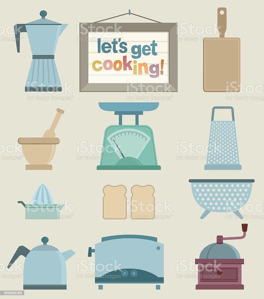 lets get cooking vector art illustration