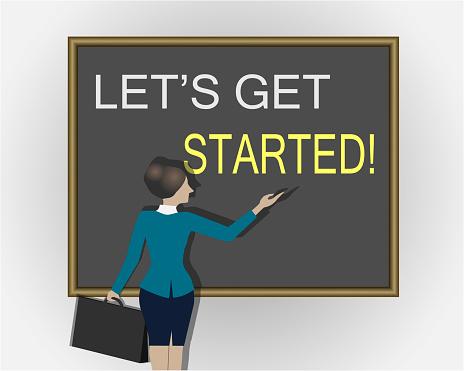 Let's Get Started. Blackboard.