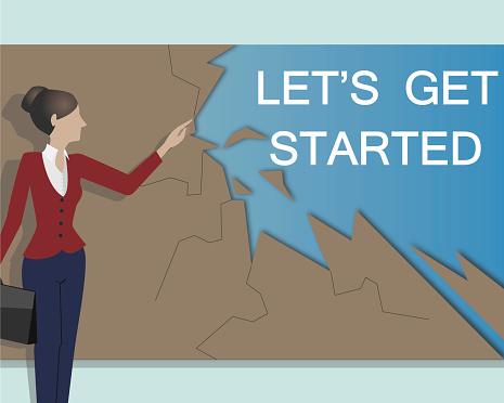 Let's Get Started. Business Concept.