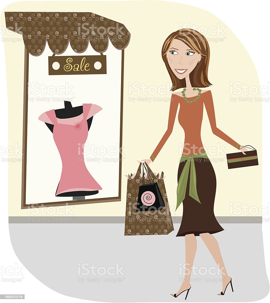 Let's Go Shopping royalty-free stock vector art